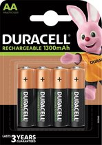 Duracell Rechargeable AA 1300mAh batterijen - 4 stuks