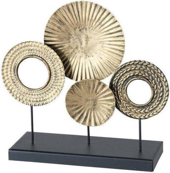 Ornament op voet - Woondecoratie - Decoratie staand - Goud - Metaal