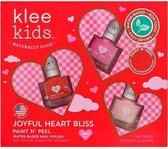 Veilige Kindernagellak set - peel off - Joyful Heart Bliss