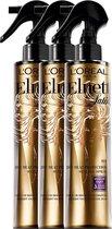 L'Oréal Paris Elnett Satin Heat Protection Haarspray - 3 x 170 ml - Voordeelverpakking