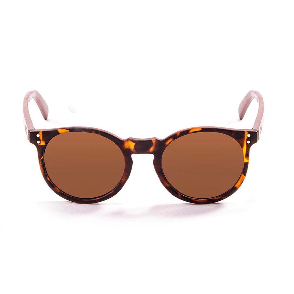 Ocean Sunglasses - LIZARD WOOD - Unisex Zonnebril Bruin - Ocean Sunglasses