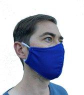 Mondmasker 100% Katoen – Wasbaar – Mondkapjes – Mondkapje – Niet Medisch - Blauw