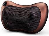 Massagekussen - Massagekussen Shiatsu - Elektrisch - Nek Massage - Rug Massage - Schouder Massage - Voet Massage - Voor Thuis en Auto - Infrarood Warmtefunctie - Bruin