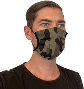 Mondmasker 100% Katoen – Wasbaar – Mondkapjes – Mondkapje – Niet Medisch - Camo