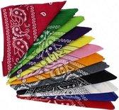 Paisley Bandana's - Paisley Boeren Zakdoek - Bandana 12 kleuren – 12 stuks