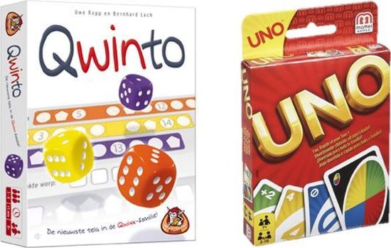 Afbeelding van het spel Spelvoordeelset Qwinto & Uno - Kaartspel