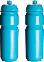 2 x Tacx Shiva Bidon - 750 ml - Lichtblauw - Drinkbus