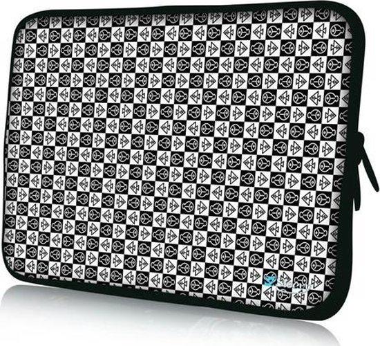 Sleevy 15,6 inch laptophoes symbolen - laptop sleeve