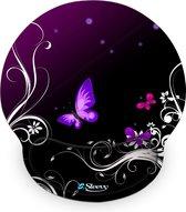 Muismat polssteun paarse vlinders - Sleevy - mousepad - Collectie 100+ designs