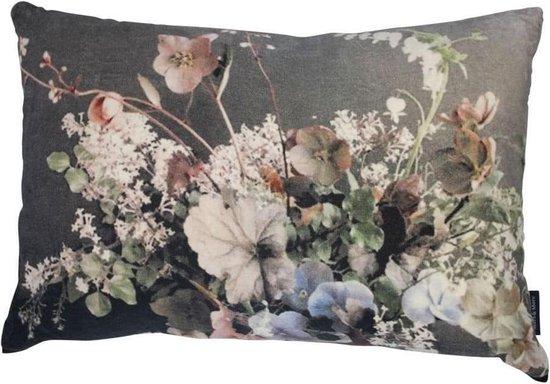 | groot kussen fluweel bloemen 9
