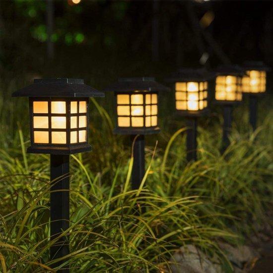 Relaxreus Tuinverlichting - 4 stuks - 38cm - Solar-LED - Warm Wit
