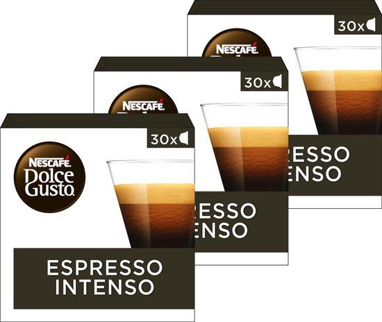 Nescafé Dolce Gusto capsules Espresso Intenso - voordeelverpakking - 90 koffiecups - geschikt voor 90 koppen koffie