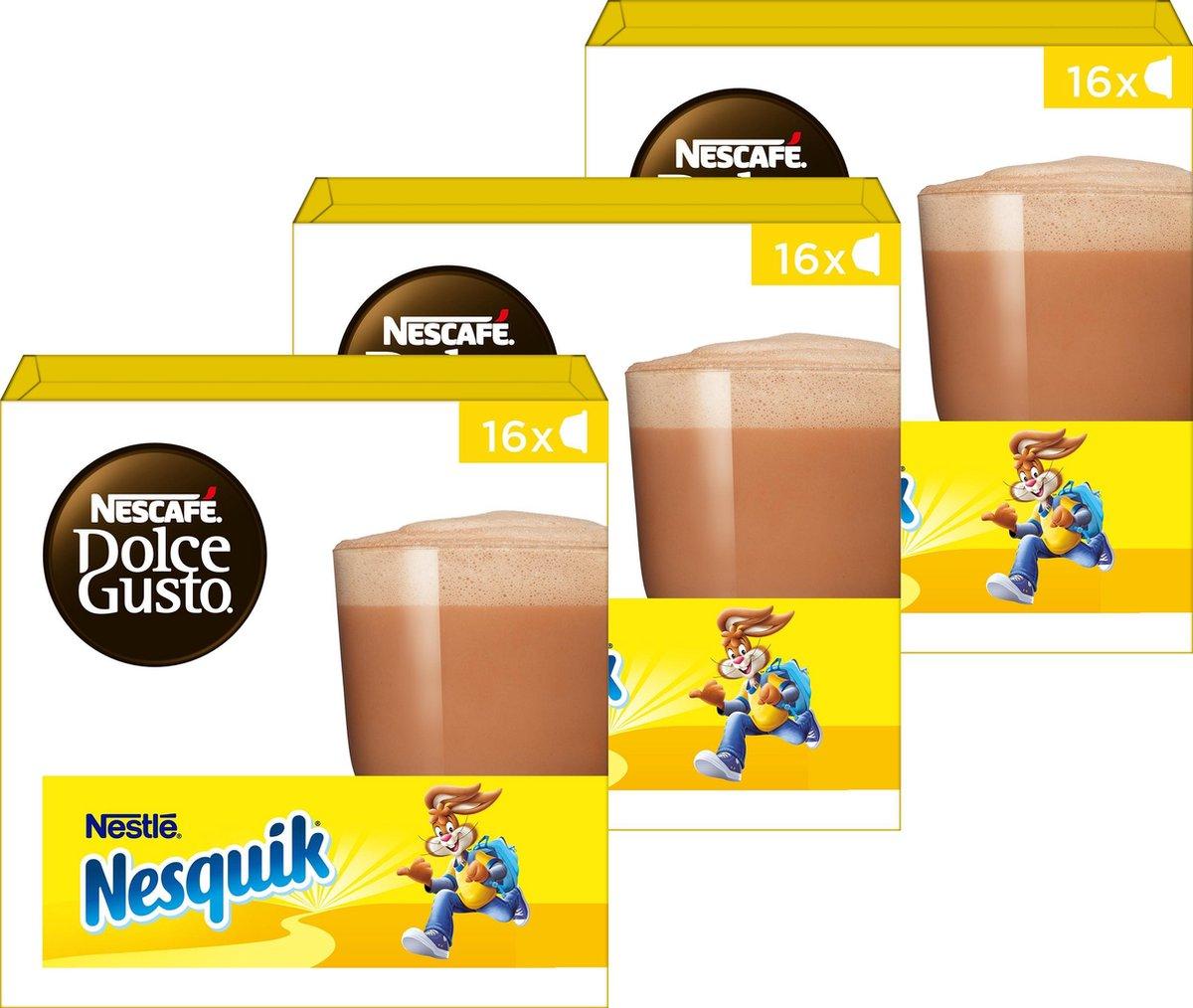 Nescafé Dolce Gusto capsules Nesquik - chocolademelk - 48 cups - geschikt voor 24 koppen