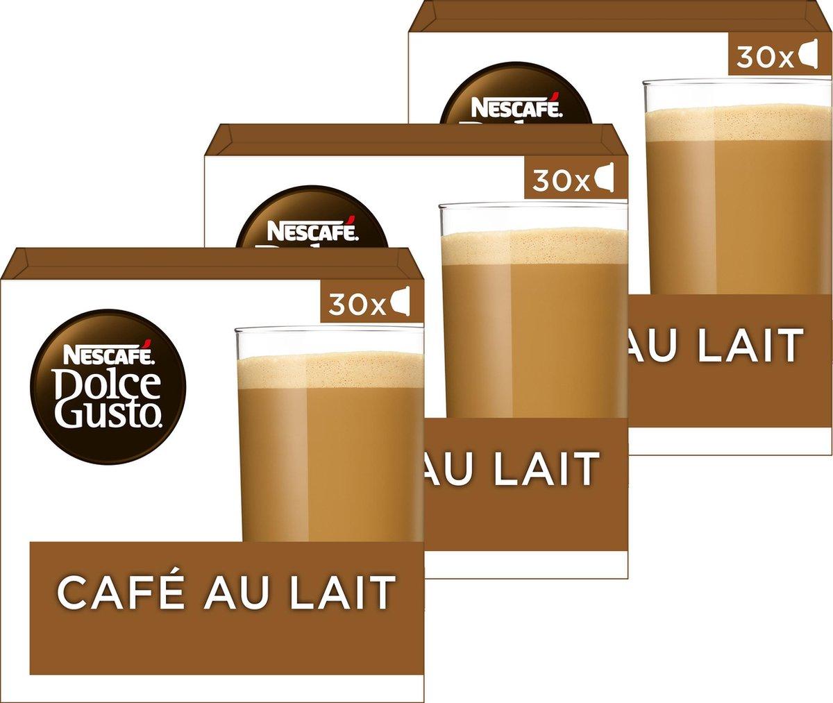 Nescafé Dolce Gusto capsules Café Au Lait - voordeelverpakking - 90 koffiecups - geschikt voor 90 ko