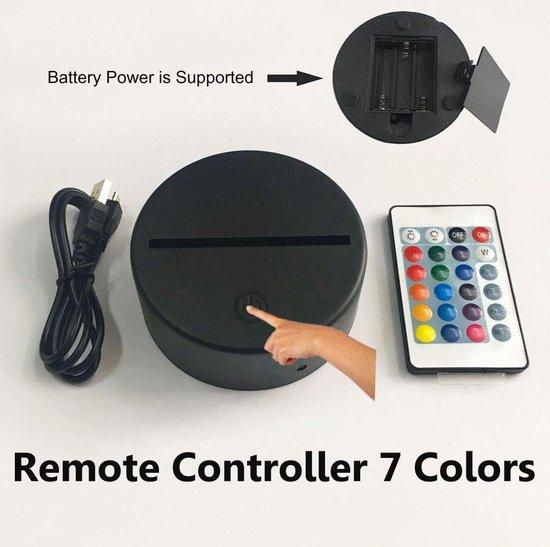 Fortnite 3D Lamp met afstandsbediening - Tafellamp - Lamp kinderkamer - Nachtlamp - Led