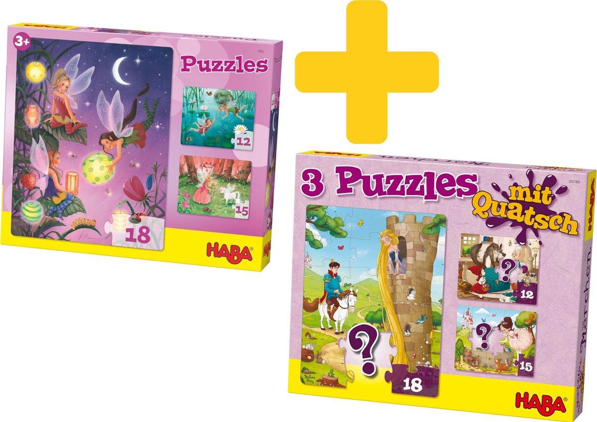 Haba puzzels voor meisjes met als thema sprookjes