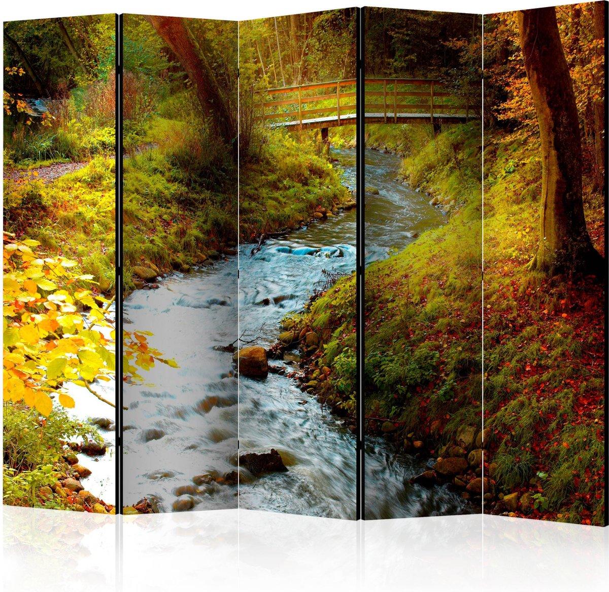 Kamerscherm - Scheidingswand - Vouwscherm - brook (sunrise) II [Room Dividers] 225x172 - Artgeist Vouwscherm