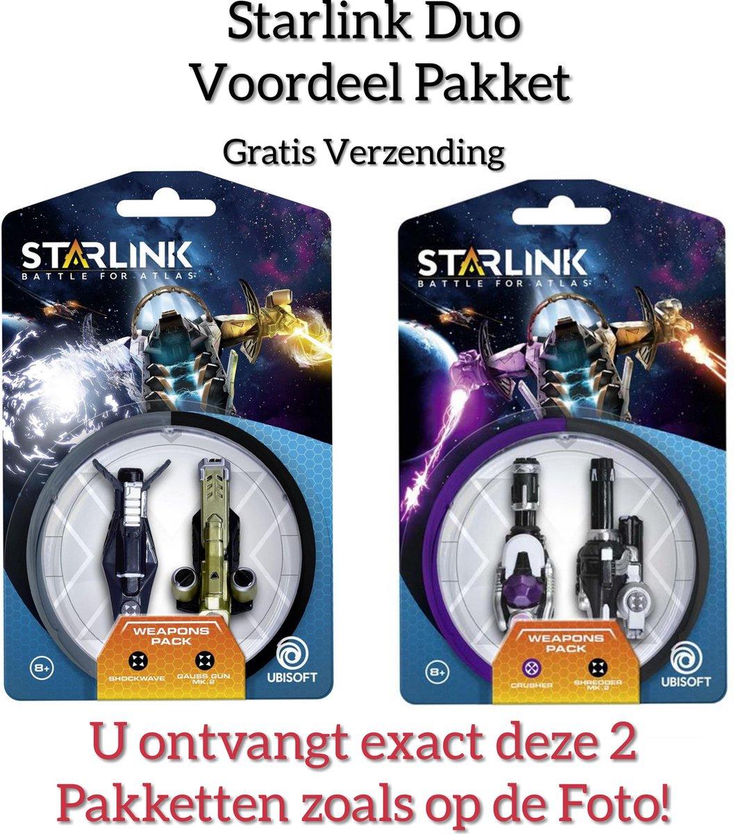 Voordeel Duo Pakket - Starlink: Battle for Atlas /Shockwave / Gauss Gun / Crusher / Shredder Mk.2/ Weapons Pack (GRATIS VERZENDING) kopen