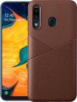 Let op type!! Ultra-dunne schokbestendige zachte TPU + lederen case voor Huawei P20 Lite (zwart)