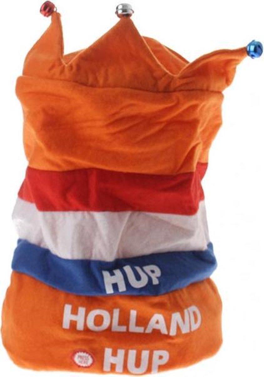 Oranje dansende muziek hoed set van 2 stuks