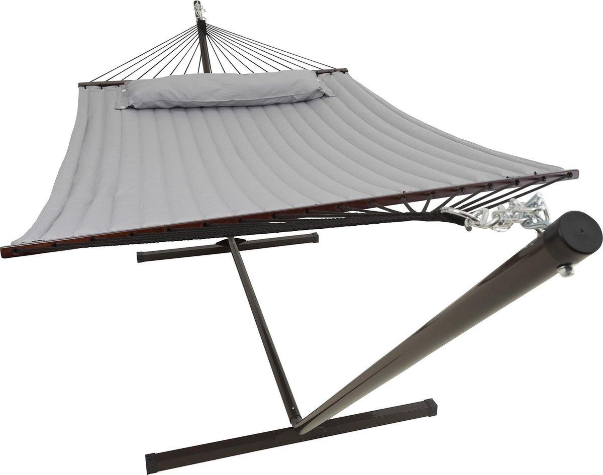 Hangmat met standaard 2 Persoons / 200kg, 190 * 140, Afneembaar kussen, Weerbestendig UV-bestendig (
