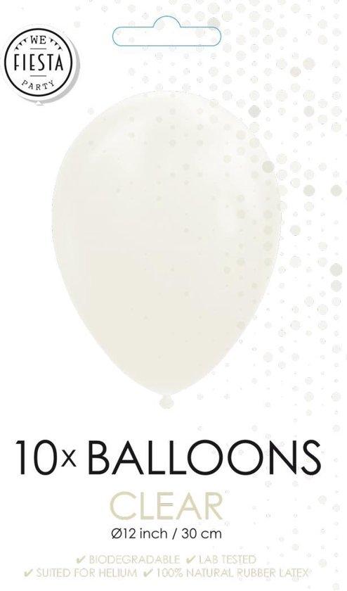 Doorzichtige ballonnen 30cm 10 stuks