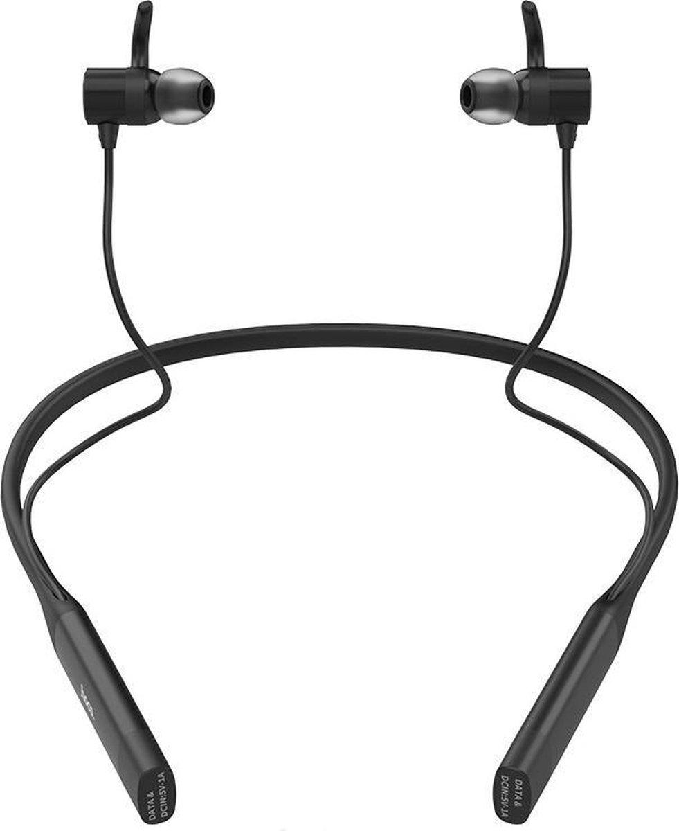 Hoco S18 – 2 in 1 Sport Zwart – Draadloze Bluetooth in-ear oortjes met nekband – Magnetisch – IPX5 – Hi-Res