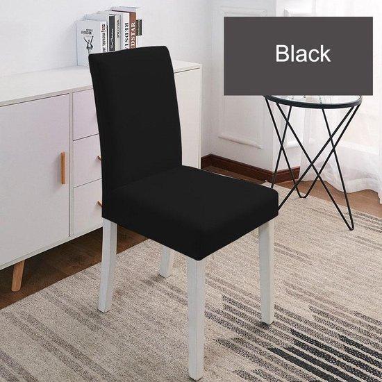 Luxe Universele Stoelhoezen   Spandex Stretch Elastische Hoezen   Zwart   2 stuks