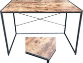 Bureau Stoer - laptoptafel  - computertafel - sidetable - industrieel design - 100 cm breed