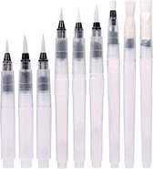 Waterbrush Pennen - Set van 9 - Waterbrush - Brush stiften - Handlettering pennen - Penseelstiften - Aquarelpenselen