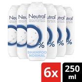 Neutral 0% Parfumvrij Shampoo - 6 x 250 ml - Voordeelverpakking