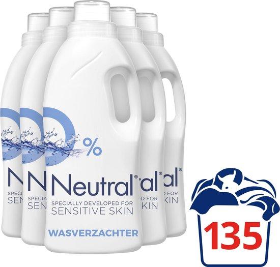 Neutral 0% Parfumvrij Vloeibaar - 5 x 750 ml - Wasverzachter - Voordeelverpakking