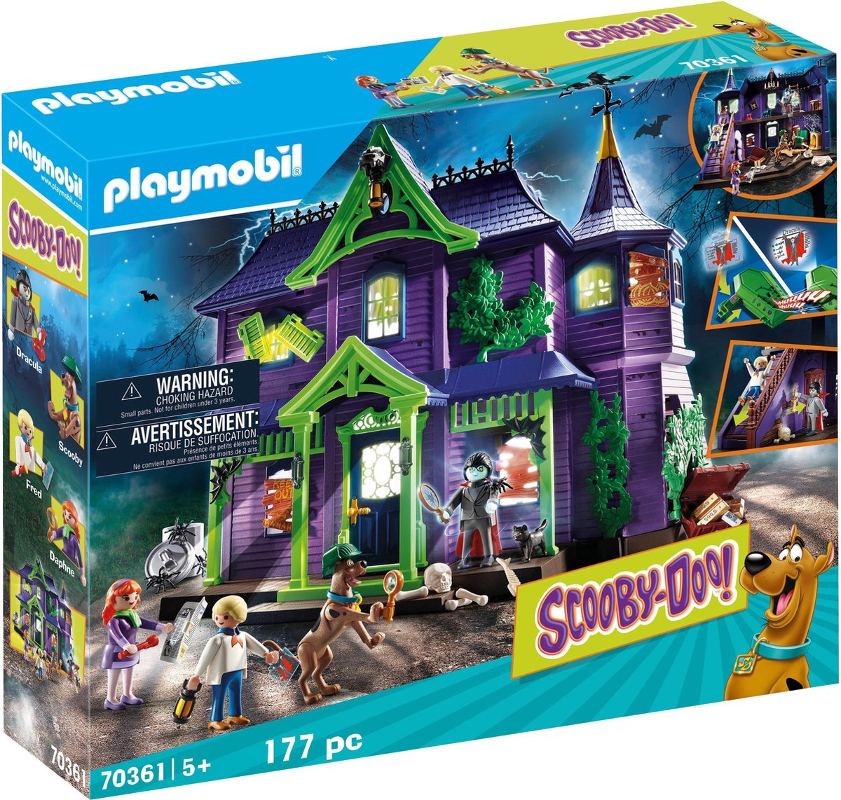 PLAYMOBIL Scooby-Doo ! Avontuur in Mystery Mansion - 70361