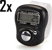 2x Handteller / Personenteller / Teller / Zwart / Digitale handteller /  Handteller op en af / Tally counter / Mechanische teller / Klantenteller / Zwembanen teller / Toerenteller / Handtellers /