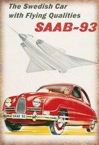 Wandbord - Saab 93