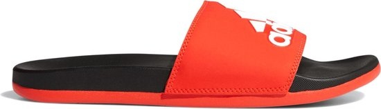 adidas CF Adilette Plus Logo Slippers Volwassenen - Active Red / Cloud White / Core Black - Maat 40.5