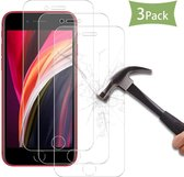 3 Stuks Screenprotector Tempered Glass Glazen Gehard Screen Protector 2.5D 9H (0.3mm) - iPhone 7 / 8 / SE 2 2020