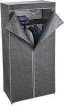 Relaxwonen - Garderobekast - Kledingkast hang en leg - Grijs - 75 x 45 x 160cm