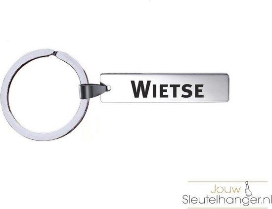 Sleutelhanger Met Naam - Wietse - RVS
