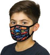 Kinder Mondmaskers met Auto racen print