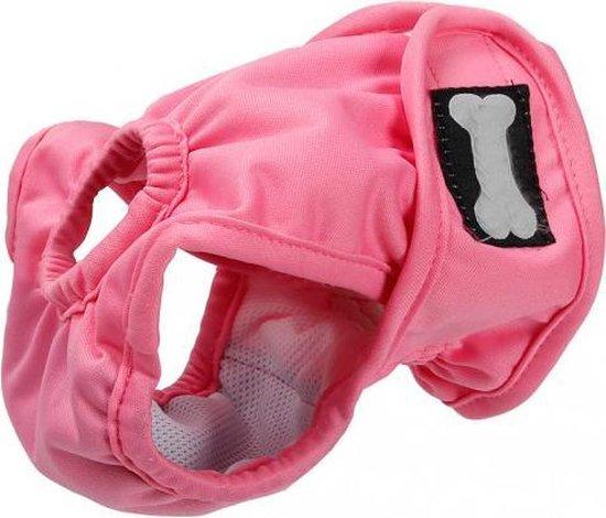 Hondenbroekje - loopsheid - menstruatie - na operatie - wasbaar - EXTRA SMALL - ROSE