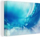 Veren achtergrond met dauw canvas 80x60 cm - Foto print op Canvas schilderij (Wanddecoratie woonkamer / slaapkamer)