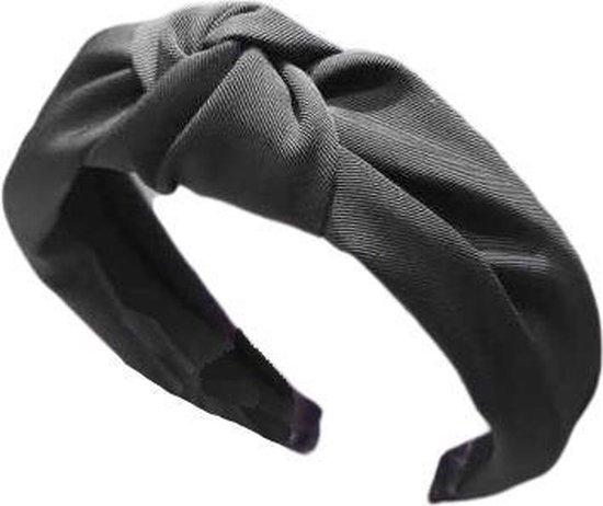MINIIYOU® Basic zwarte dames haarband - diadeem met knoop zwart | Haarband volwassenen - vrouwen - dames - tieners - meiden