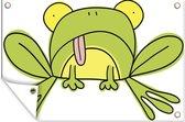 Simpele illustratie van een kikker 60x40 cm