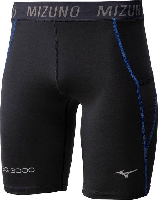 Mizuno Sportbroek - Maat L  - Mannen - zwart/blauw