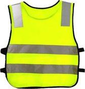 Veiligheid kinderen reflecterende strepen kleding kinderen reflecterend vest (fluorescerend geel)-Geel