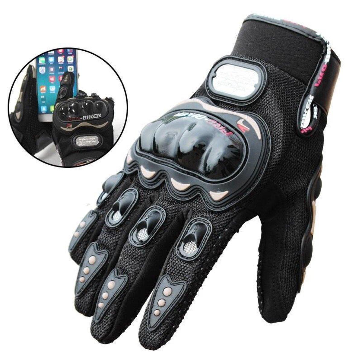 Motorhandschoenen - Zwart - Handschoenen Motor & Scooter - Maat M - Touchscreen - Bescherming
