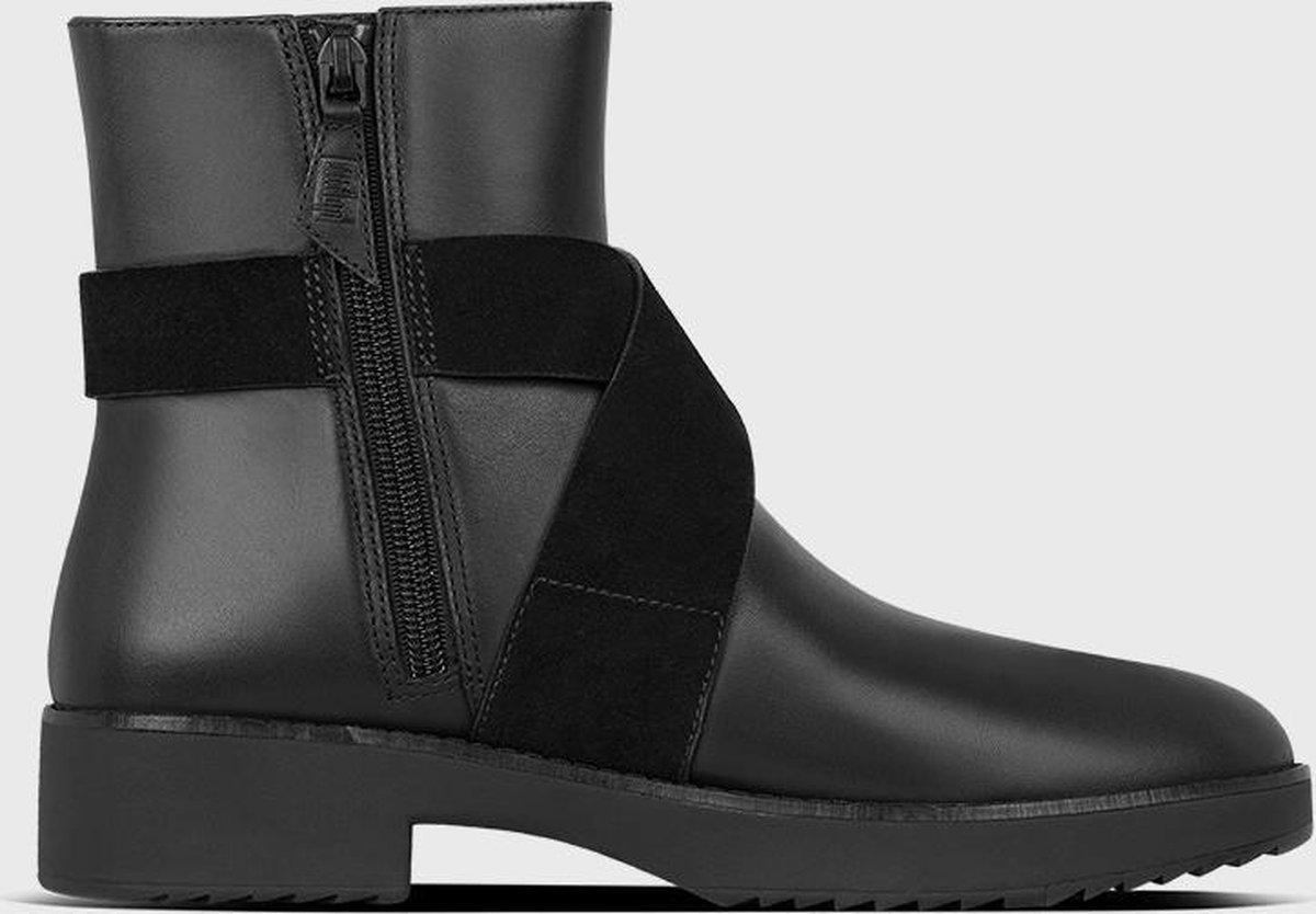 Fitflop - Damesschoenen - Mona Buckle Ankle Boots - zwart - maat 41 Laarzen