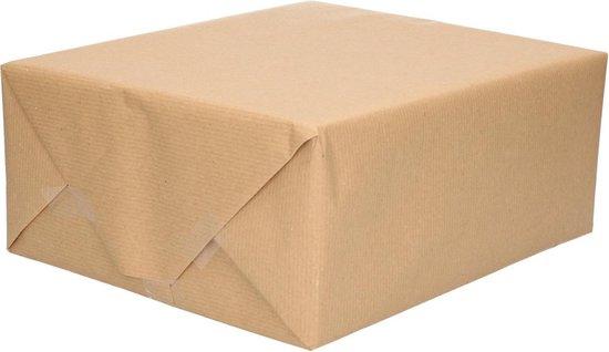 Inpakpapier/cadeaupapier gerecycled kraft bruin rol 200 x 70 cm - Hobby kraftpapier - Cadeauverpakking kadopapier