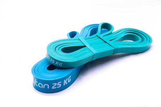 Kaytan - Resistance band - Weerstandsbanden - Fitness elastiek - 15 KG & 25 KG - Workout set - Elastiek fitness - elastische weerstandsbanden - Thuis sporten